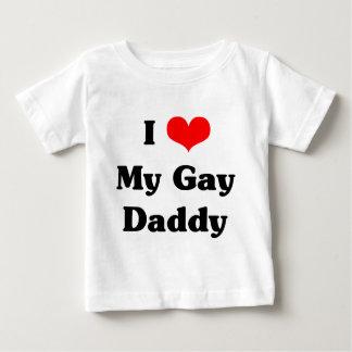 T-shirt Pour Bébé J'aime mon papa gai