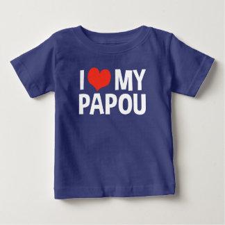 T-shirt Pour Bébé J'aime mon Papou