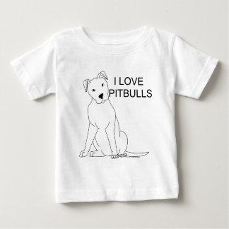 T-shirt Pour Bébé J'aime Pitbulls