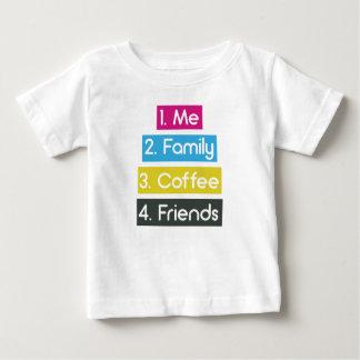 T-shirt Pour Bébé J'amis de café de famille