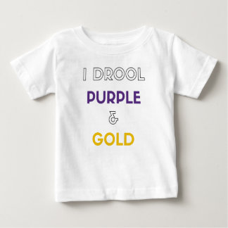 T-shirt Pour Bébé Je radote pourpre et or