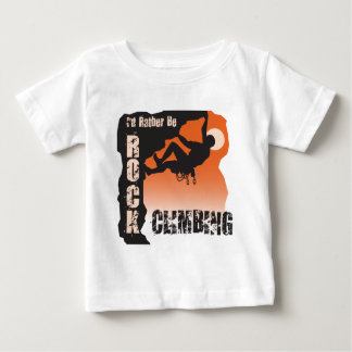 T-shirt Pour Bébé Je serais plutôt des types d'escalade de roche