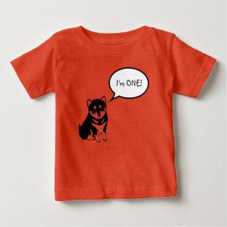 T-shirt Pour Bébé Je suis 1 pièce en t de bébé d'orange de la bulle