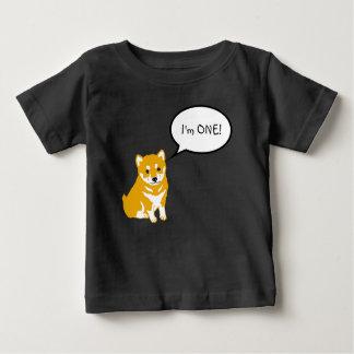 T-shirt Pour Bébé Je suis 1 pièce en t noire de bébé de la bulle 2