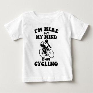 T-shirt Pour Bébé Je suis ici mais mon esprit fait un cycle