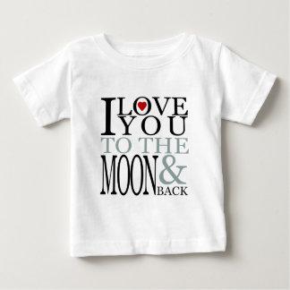 T-shirt Pour Bébé Je t'aime à la lune et au dos