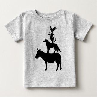 T-shirt Pour Bébé Jeunesse lunatique d'animaux de ferme
