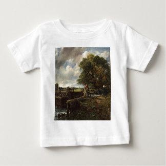 T-shirt Pour Bébé John Constable - la serrure - paysage de campagne