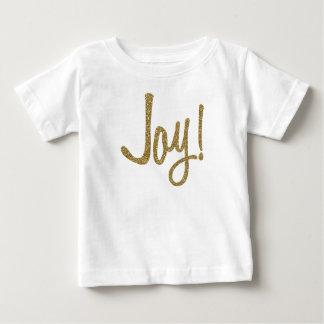 T-shirt Pour Bébé Joie d'or de scintillement de Faux