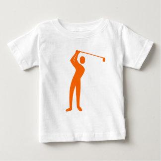 T-shirt Pour Bébé Jouer au golf - orange
