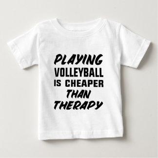 T-shirt Pour Bébé Jouer au volleyball est meilleur marché que la