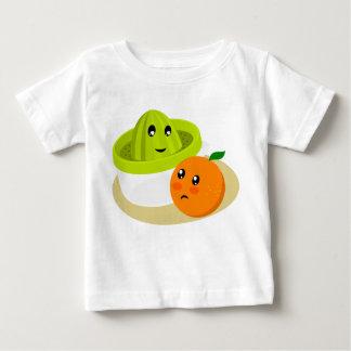 T-shirt Pour Bébé Jus d'orange (orange et presse-fruits)