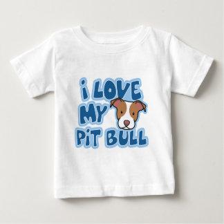 T-shirt Pour Bébé Kawaii mon enfant de pitbull d'I amour