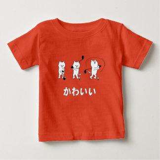 T-shirt Pour Bébé Kitty mignon jouant le mot de Kawaii de golf dans
