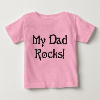 T-shirt Pour Bébé KRW mon humour mignon de bébé de roches de papa