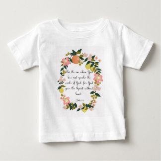 T-shirt Pour Bébé La bible exprime l'art en vers - 3h34 de John