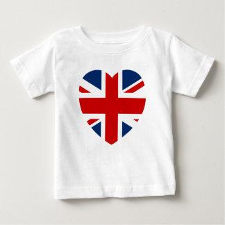 T-shirt Pour Bébé La forme de coeur de drapeau d'Union Jack
