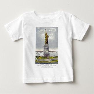 T-shirt Pour Bébé La grande statue de Bartholdi de la liberté Currie