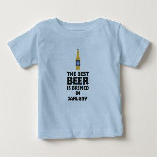 T-shirt Pour Bébé La meilleure bière est en janvier Zxe8k brassé