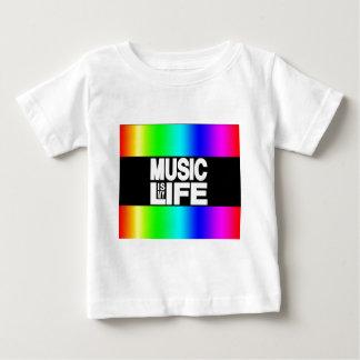 T-shirt Pour Bébé La musique est mon arc-en-ciel de la vie