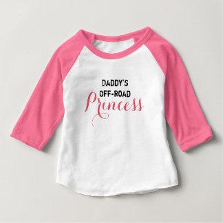 T-shirt Pour Bébé La princesse tous terrains du papa