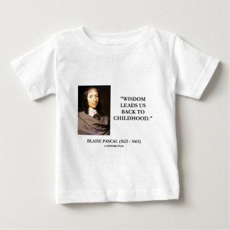 T-shirt Pour Bébé La sagesse de Blaise Pascal nous mène de nouveau à