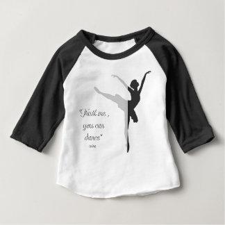 T-shirt Pour Bébé La silhouette noire de ballet font confiance que