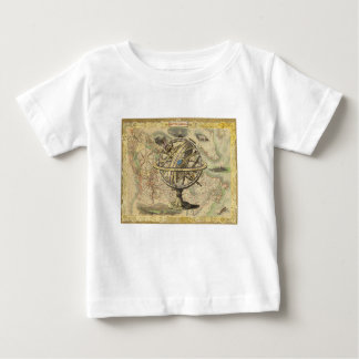 T-shirt Pour Bébé La vieille Amérique britannique explorent la carte