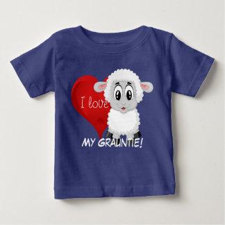 """T-shirt Pour Bébé L'agneau et le coeur conçoivent avec """"moi aiment"""