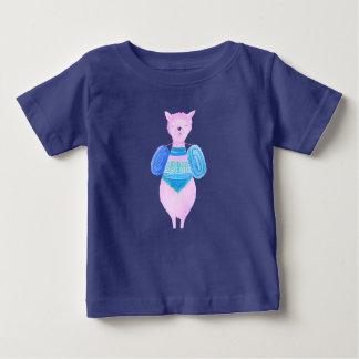 T-shirt Pour Bébé Lama rose dans des couleurs en pastel aucun cool