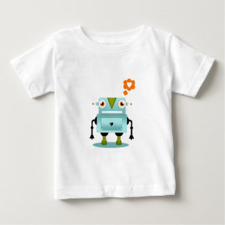 T-shirt Pour Bébé L'amour lunatique et artistique de robot badine la