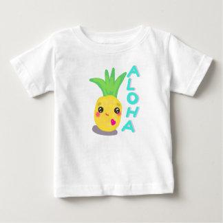 T-shirt Pour Bébé L'ananas mignon indique Aloha