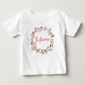 T-shirt Pour Bébé L'aquarelle florale de taime de Je badine le