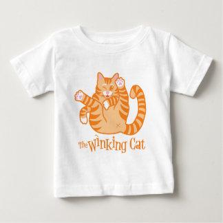 T-shirt Pour Bébé Le chat clignotant