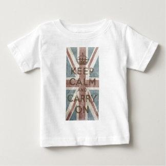 T-shirt Pour Bébé Le cru gardent le calme et continuent