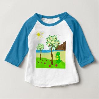 T-shirt Pour Bébé Le dragon de bébé rassemble le fruit