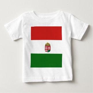 T-shirt Pour Bébé Le drapeau de la Hongrie