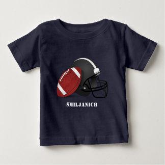 T-shirt Pour Bébé Le football et casque