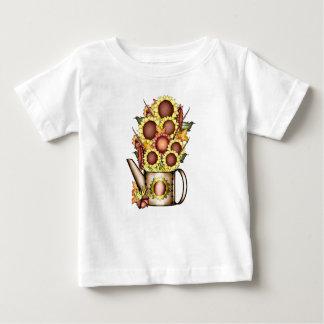 T-shirt Pour Bébé Le pays de jaune de tournesol d'or d'automne Prims