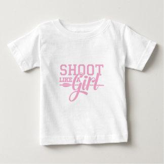 T-shirt Pour Bébé Le rose aiment une fille