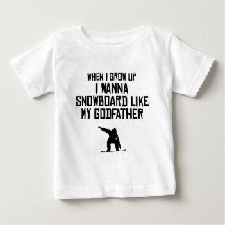 T-shirt Pour Bébé Le surf des neiges aiment mon parrain