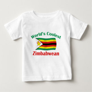 T-shirt Pour Bébé Le Zimbabwéen le plus frais du monde