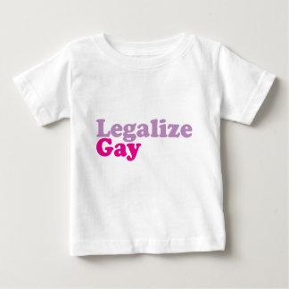 T-shirt Pour Bébé légalisez le mgt gai de toilettes