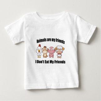 T-shirt Pour Bébé Les animaux sont mes amis
