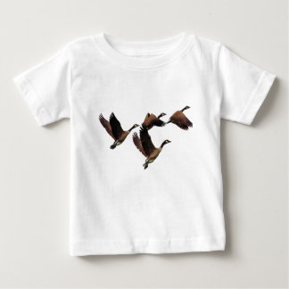 T-shirt Pour Bébé Les oies canadiennes volant en troupeau badine la