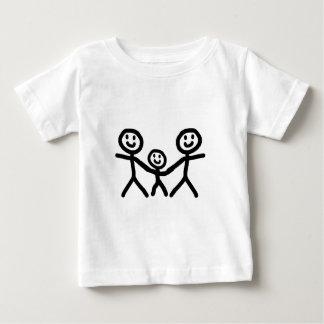 T-shirt Pour Bébé Les papas gais adoptent