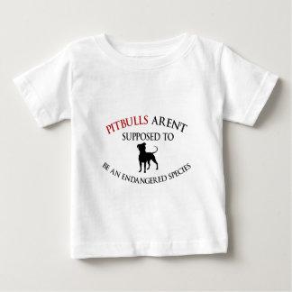 T-shirt Pour Bébé Les pitbulls conçoivent mignon