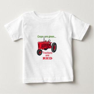 T-shirt Pour Bébé Les tracteurs sont rouges
