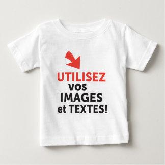 T-shirt Pour Bébé Les vos d'Imprimer conçoit en Français du ligne