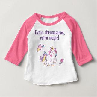 T-shirt Pour Bébé Licorne supplémentaire de magie de chromosome